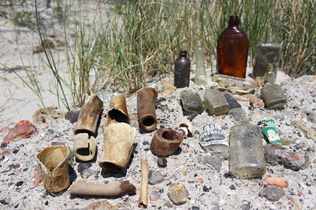 horse bones and bottles