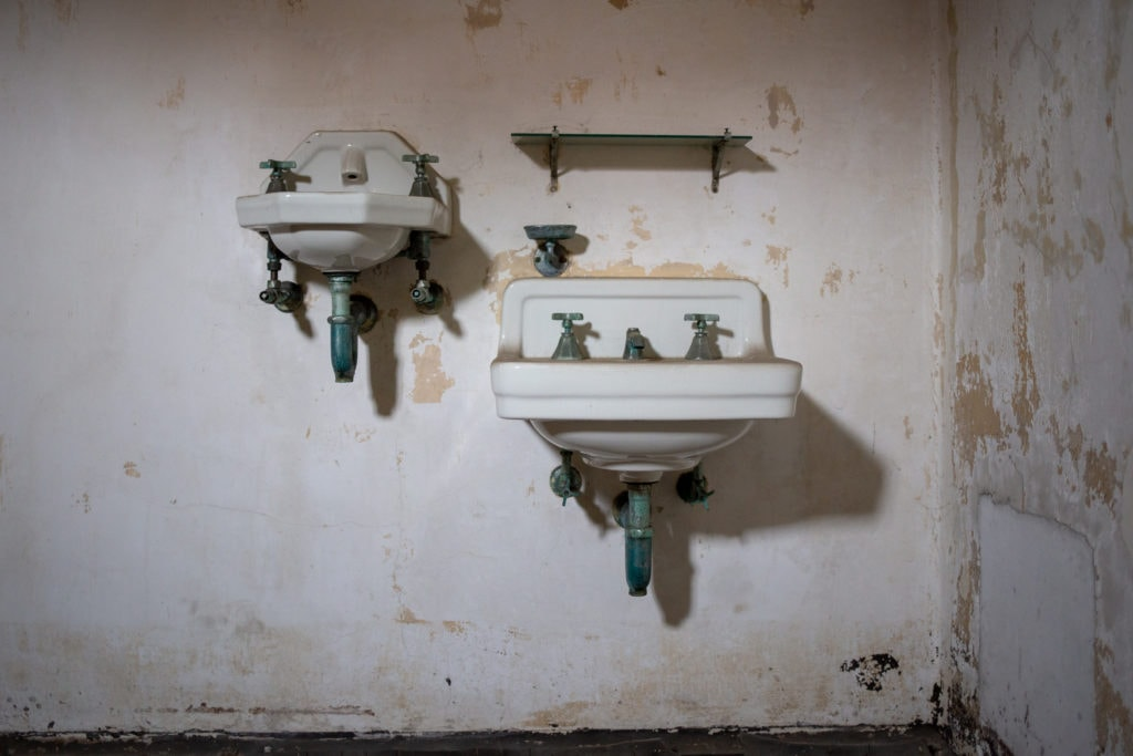 two wall sinks