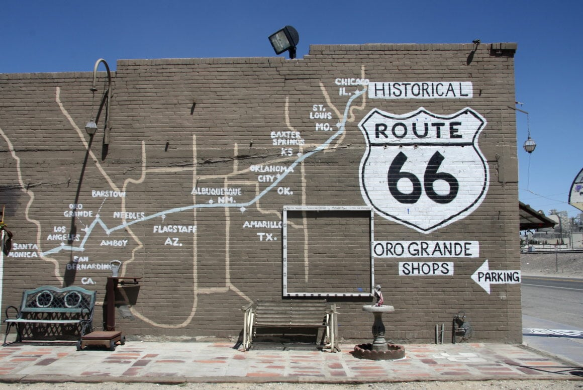 Patchwork America Road Trip Road Map Motorcycles Route 66