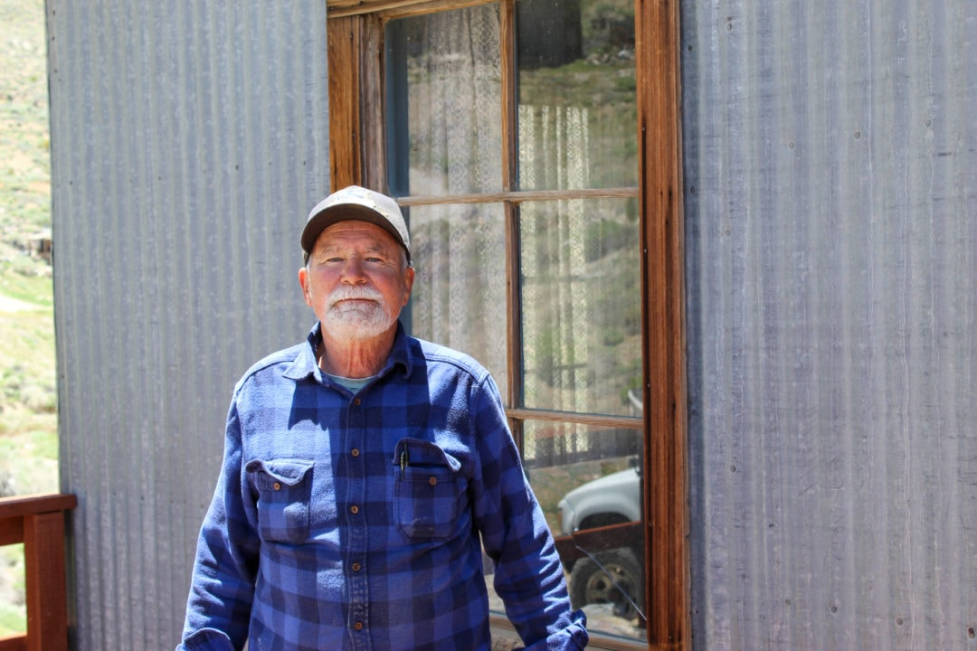 Robert Desmarais has lived on the Cerro Gordo ghost town property for 22 years
