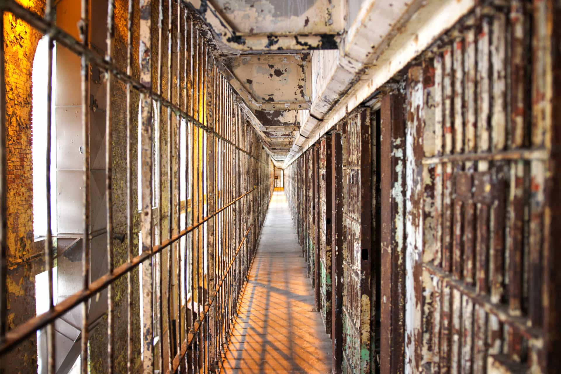 A cell block inside the ohio state reformatory