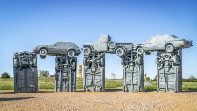 'Blood, sweat, and beers': Nebraska's Carhenge may be less mysterious than its English counterpart, but it's just as bizarre