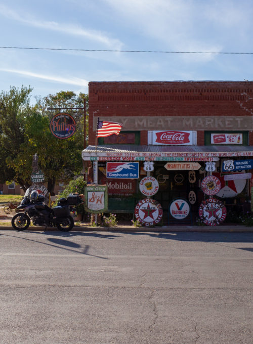 Harley Russell, Route 66's most famous hillbilly hoarder, presides over a shop where nothing is for sale