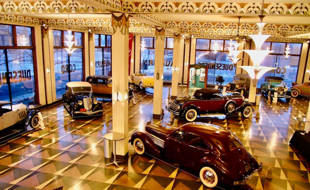 The original showroom has been beautifully restored.