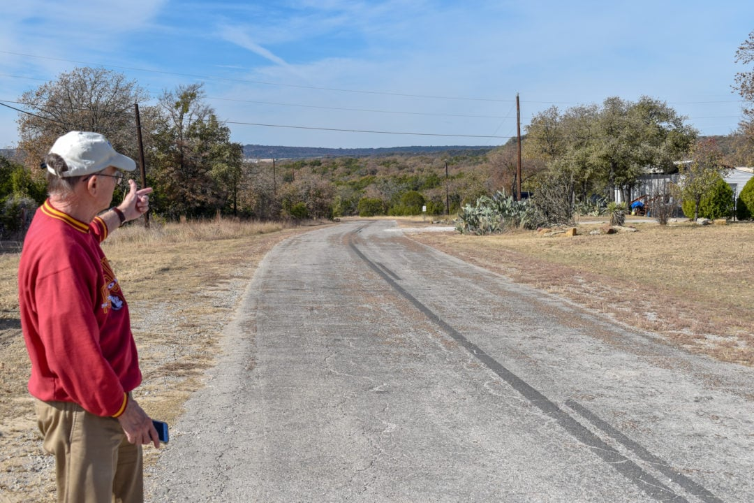 Smith surveys a section of the Bankhead that leads toward the Brazos River Valley.