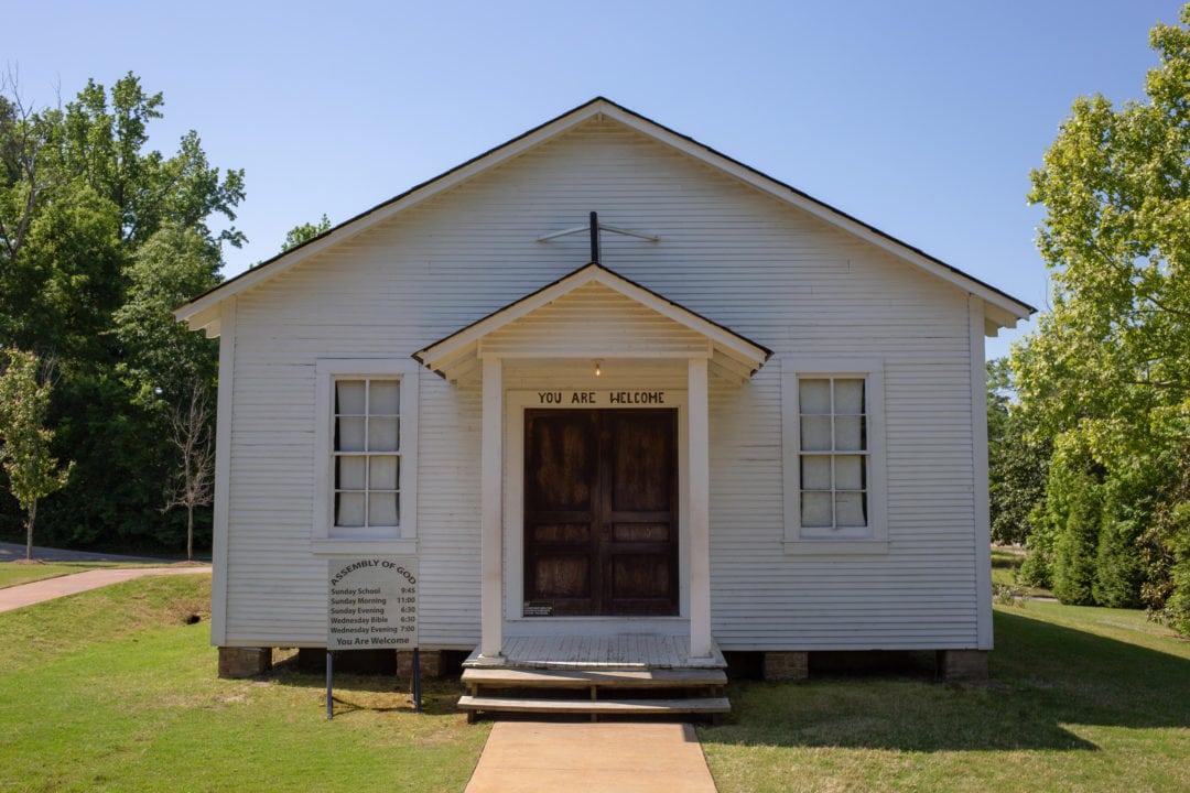 Elvis' childhood church.