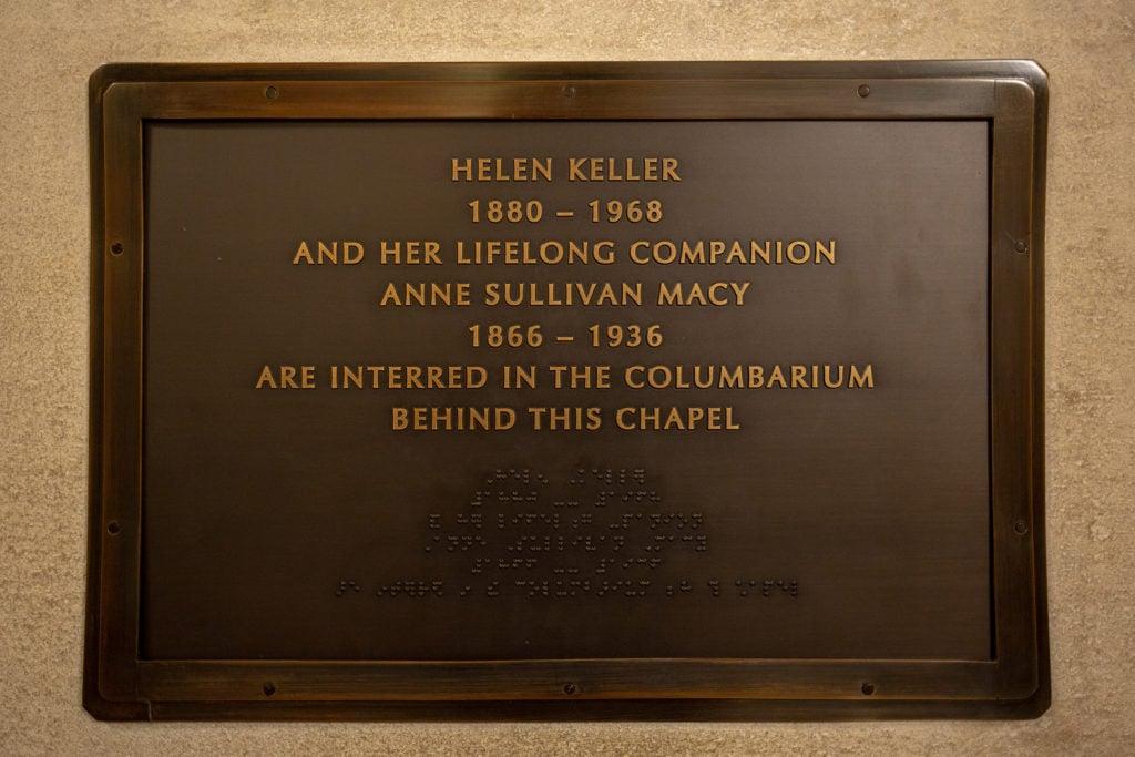 Helen Keller is interred alongside Annie Sullivan.