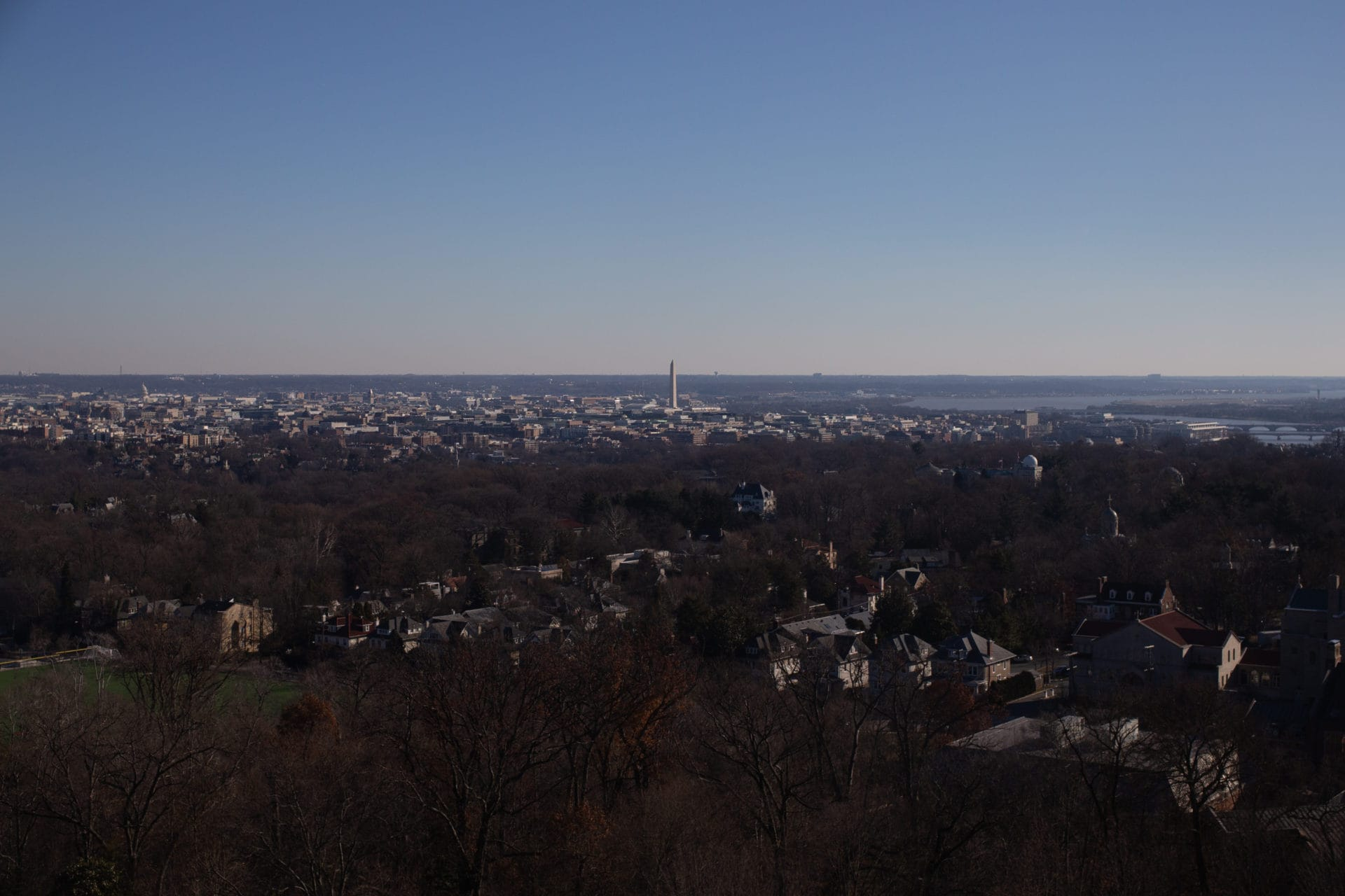 A view of the Washington Monument.