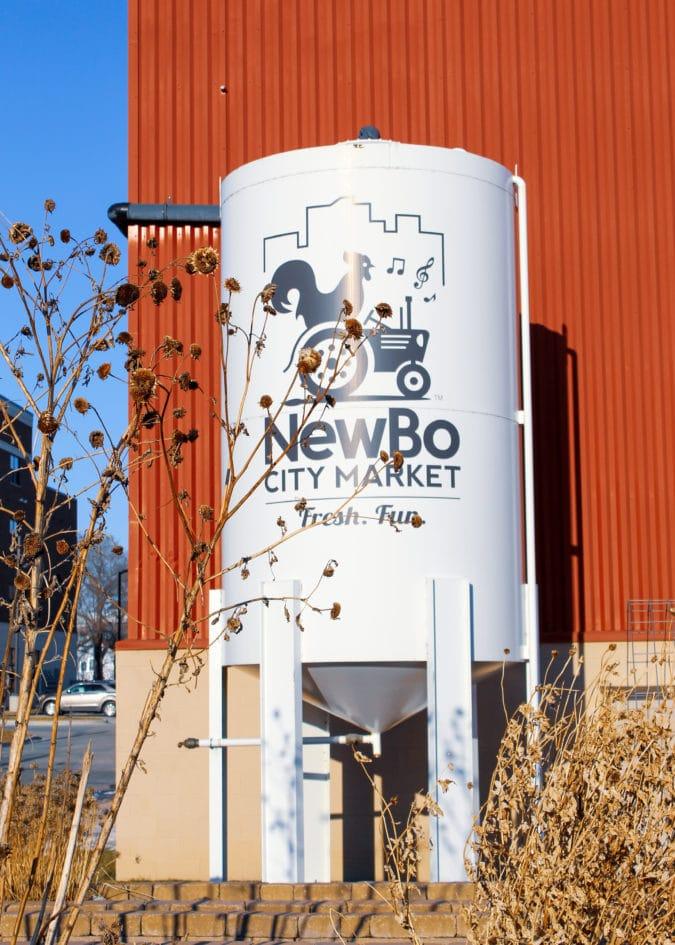 NewBo City Market signage outside the market