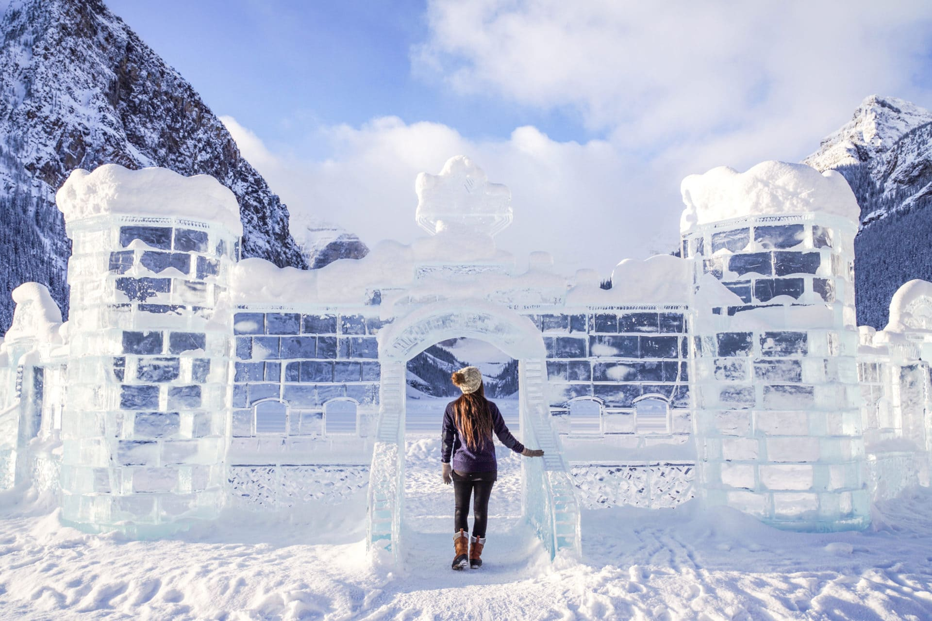 Teams of world-class carvers create frosty masterpieces during Banff's Ice Magic festival