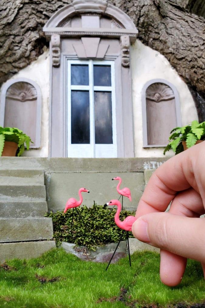 Swan house door.