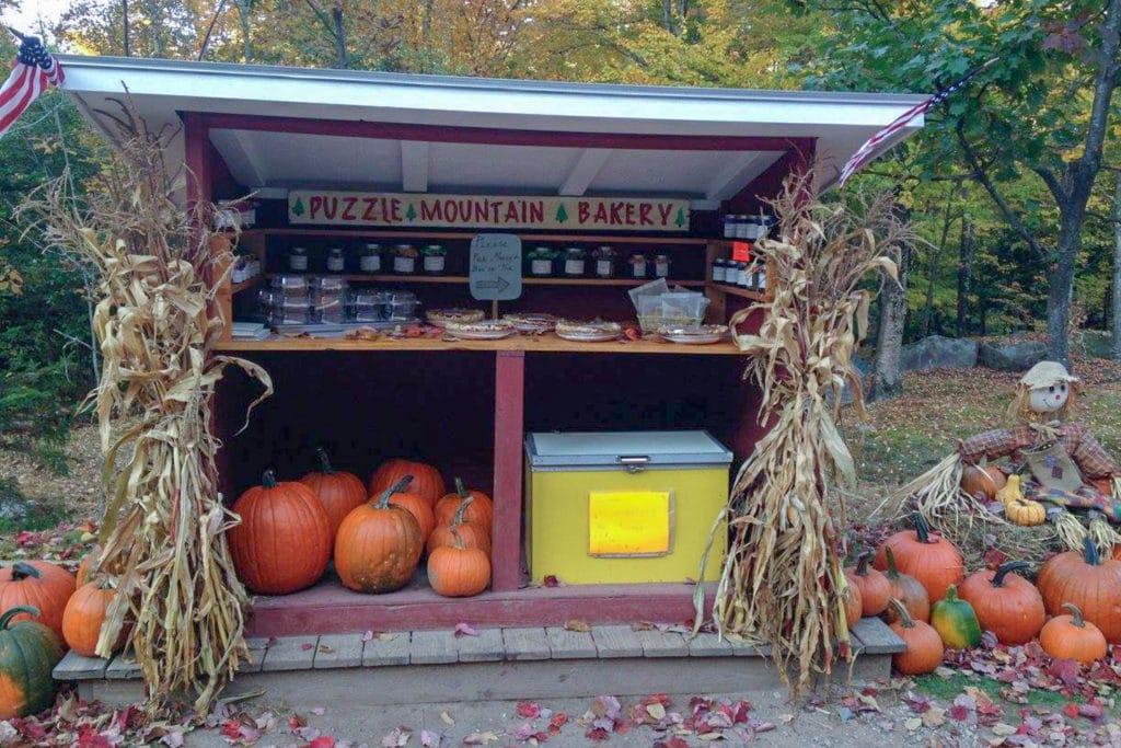 Roadside bakery stand.