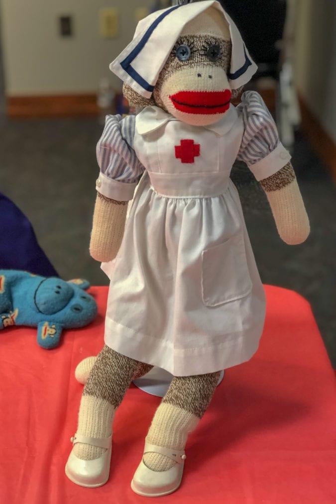 Nurse sock monkey.