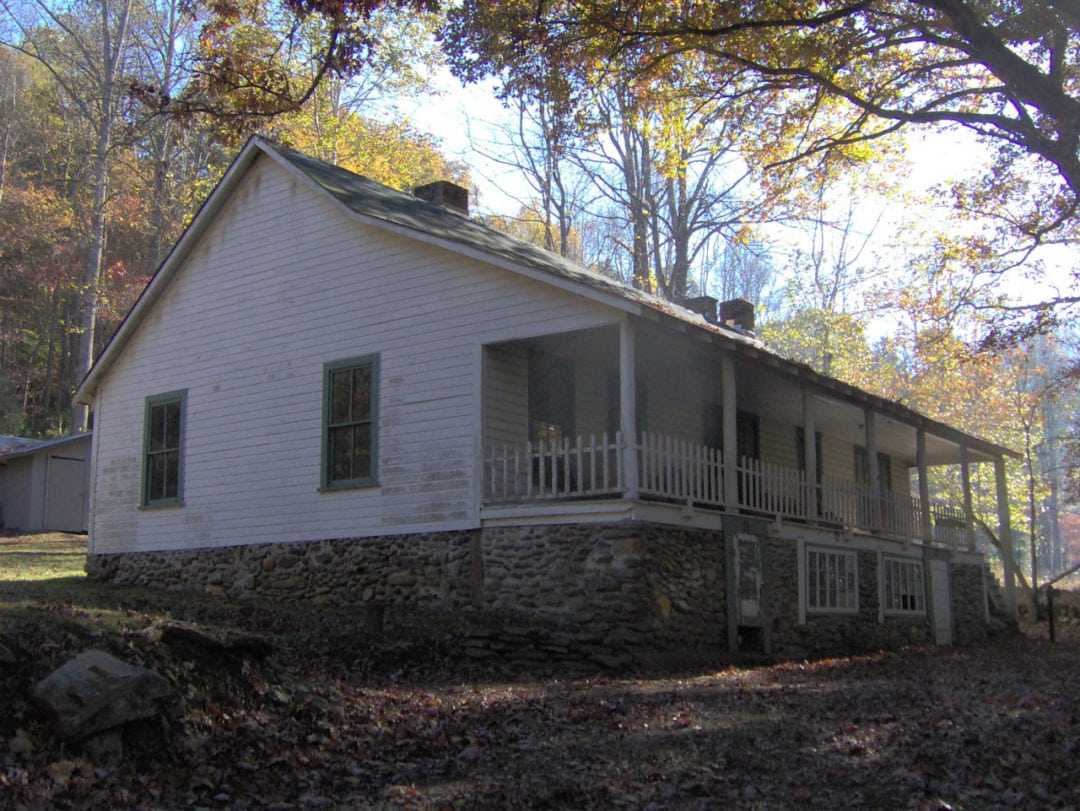 The Calhoun House in the Proctor section of the Great Smoky Mountains