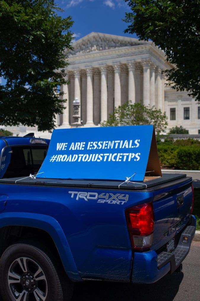 "Sign reading: ""We are essentials."""