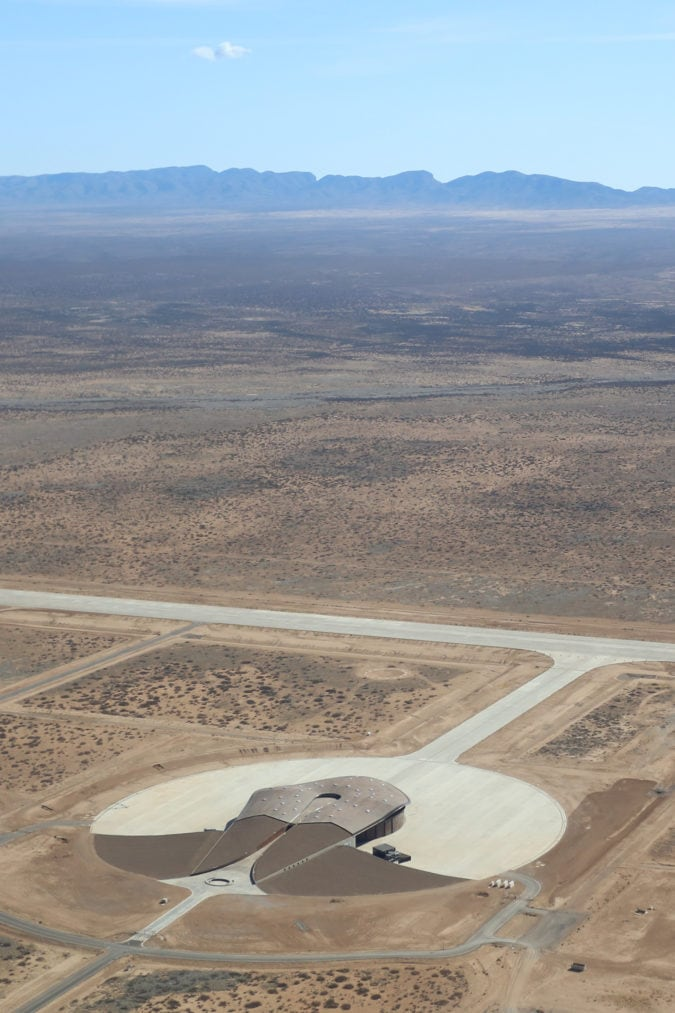 Aerial view of Spaceport America