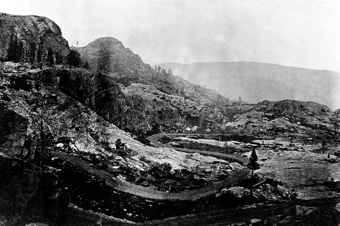 Donner Lake Pass in the 1870s.