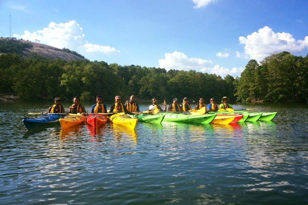 A kayaking trip.