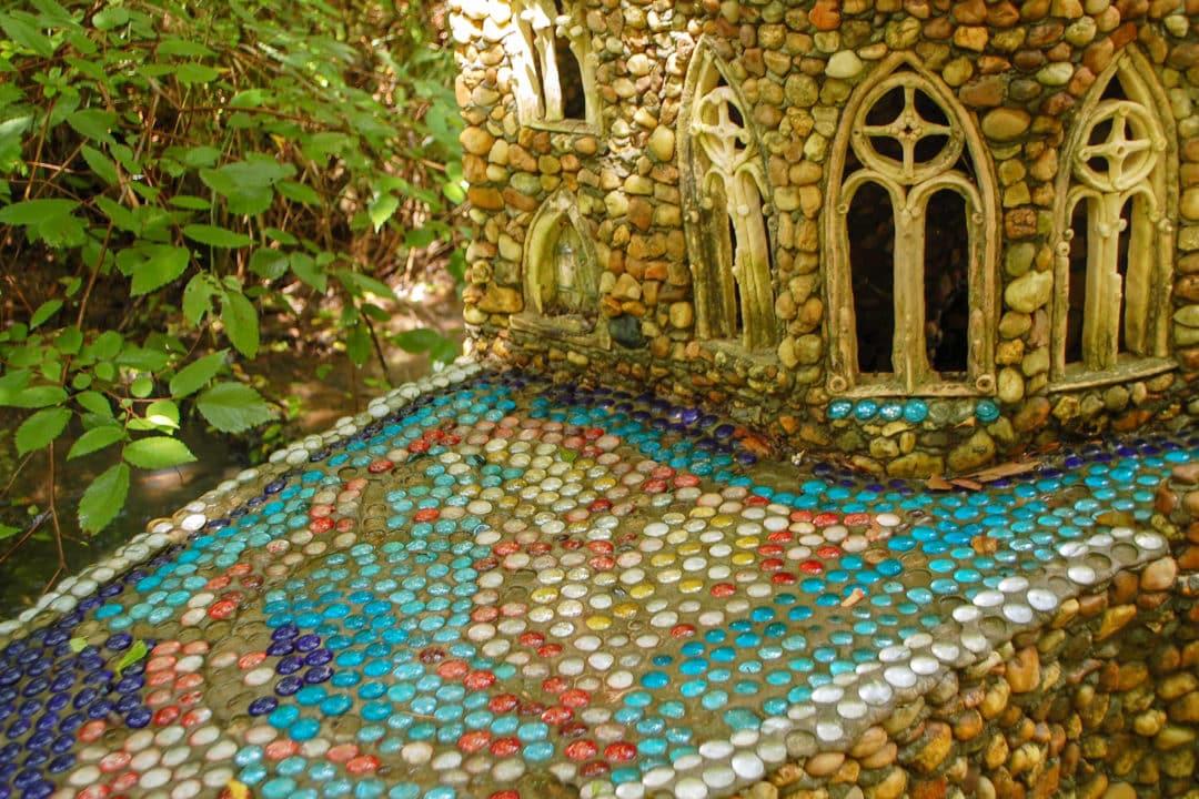 Pebble mosaic.