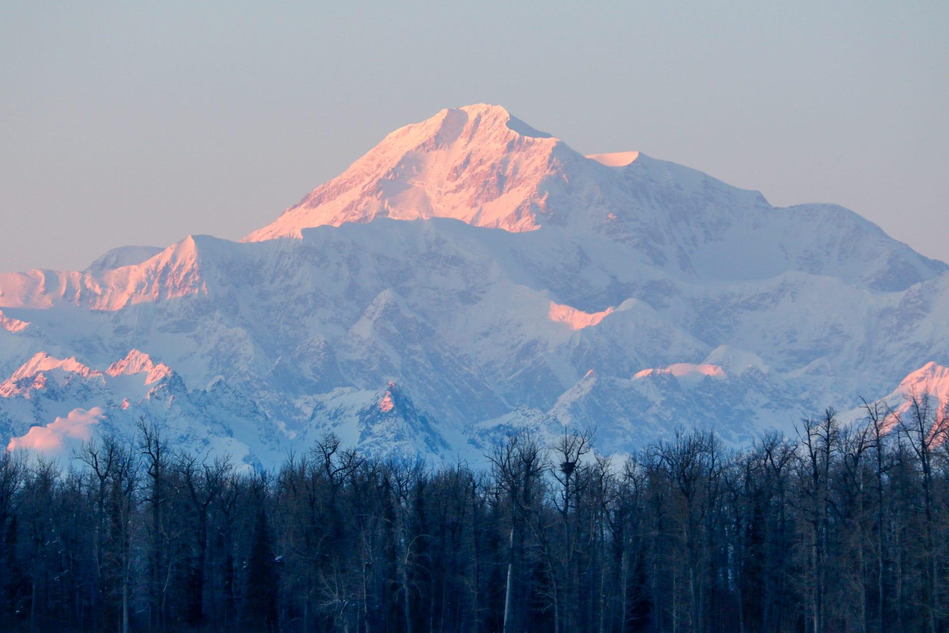 Denali is the highest mountain peak in North America.