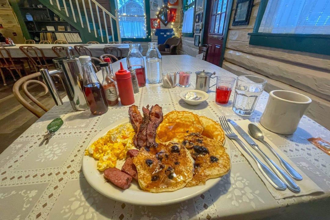 Roadhouse breakfast.