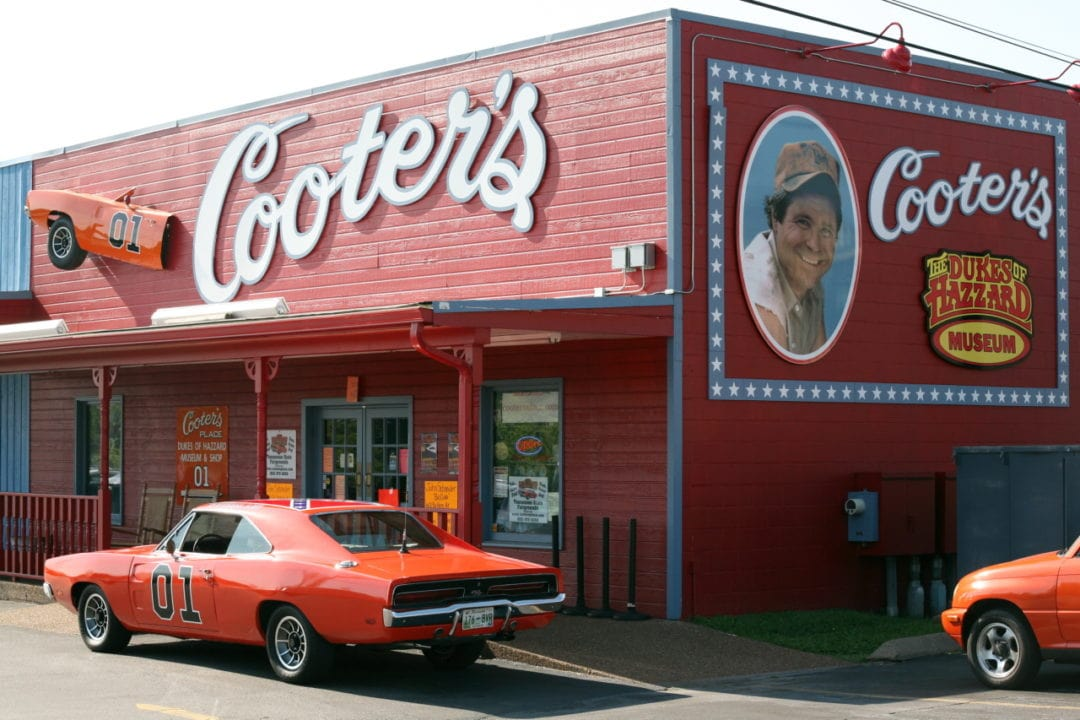 The exterior of Cooter's Dukes of Hazzard musem