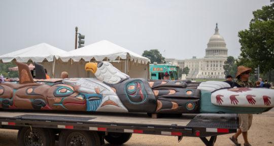 A sacred totem pole takes a 20,000-mile road trip from Washington state to Washington, D.C.
