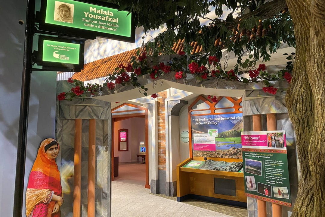 a museum exhibit dedicated to malala